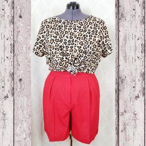 Ava & Viv Leopard Print Button Down Blouse